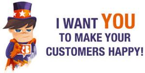 Want to make customers happy