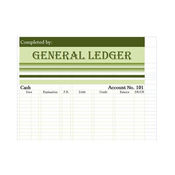 Daily Business Journal Sample (Also Know As A General Ledger)  Business Ledger Example