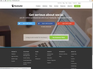 Hootsuite is great for social media management