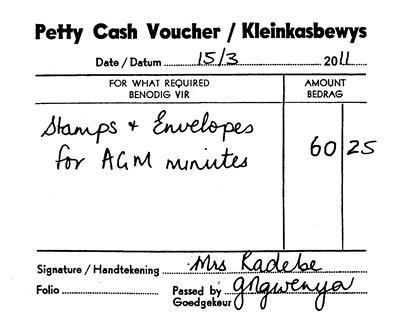 Petty Cash Voucher Book Sample  Petty Cash Voucher Example