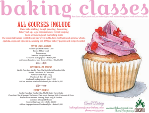 Baking Class Poster - Never stop marketing your biz