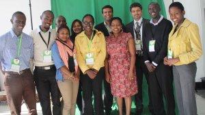 With the Kuza Biashara team at AITEC