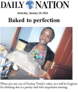 Pauline in the Daily Nation - she's the next big thing!